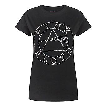 Pink Floyd Dark Side Of The Moon Women's Diamante T-Shirt