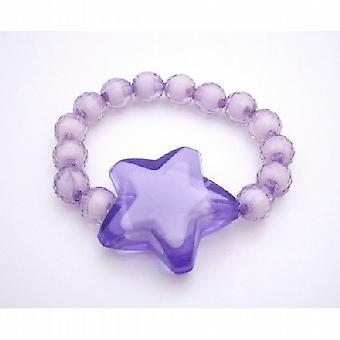 Encontrar joyería de la manera para las niñas volver regalo púrpura pulsera de la estrella