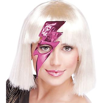 Lightning Bolt maske Hot Pink For voksne