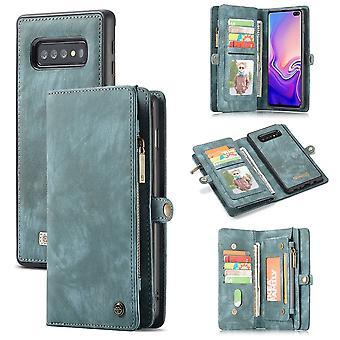 Mobile bag for Samsung Galaxy S10 plus G975F CaseMe cover purse + pouch case faux leather blue