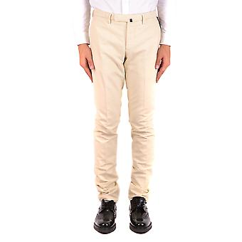 Incotex Ezbc093045 Men's White Cotton Pants