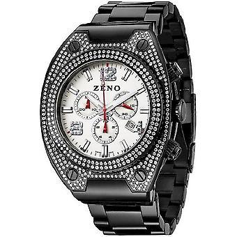 ゼノ ・ ウォッチ メンズ腕時計スワロフ スキー 1 クロノグラフ黒 91026-5030Q-bk-i2M