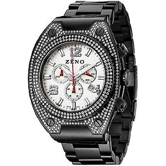 Zeno-watch Herre ur bling 1 chronograph sort 91026-5030Q-bk-i2M