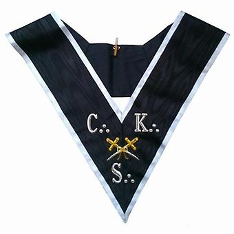 Freimaurerkragen-AASR-30. Grad-CKS-Cross Swords