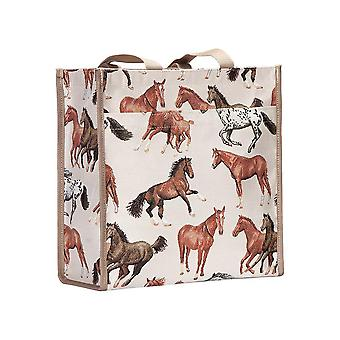 Running horse reusable shopper bag by signare tapestry / shop-rhor
