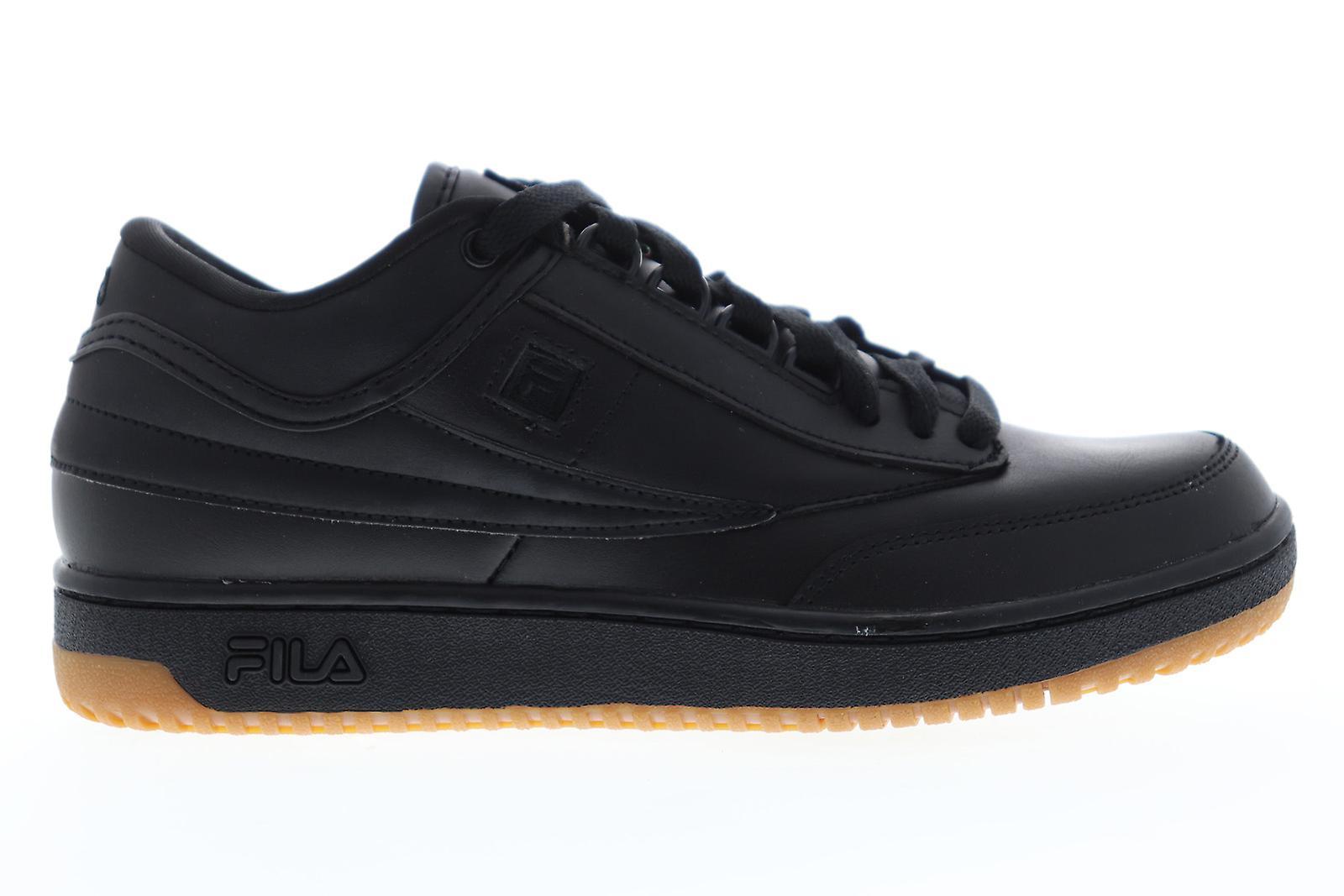 Fila T 1 mid glidelås menns svart casual lav topp joggesko sko
