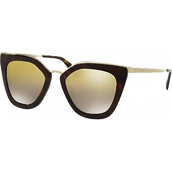 Prada SPR53S tartaruga/oro specchio marrone sfumato oro