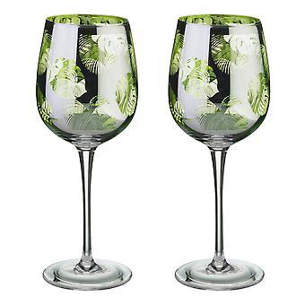 Artland frunze tropicale set de 2 pahare de vin