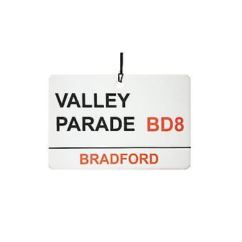 Bradford / Valley Parade Street sinal refrogerador de ar do carro