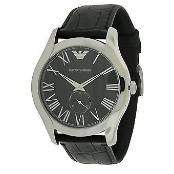 Emporio Armani negru croco piele Mens Watch AR1703