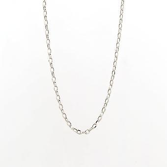 Evigheden 9ct hvid guld 20 ' ' diamant cut Belcher kæde