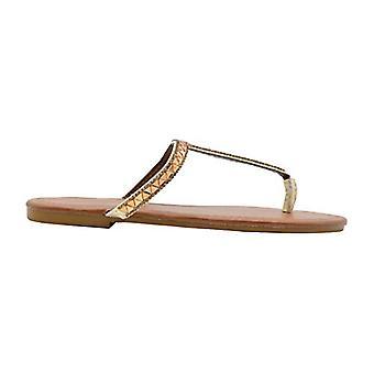 Via Rosa naisten muoti sandaalit metallinen lipsahdus flip flop asunnot strassit