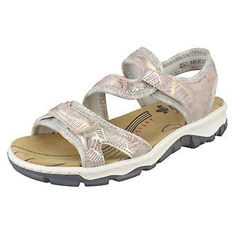 Naisten Rieker kesän yksityiskohtaiset sandaalit 68869