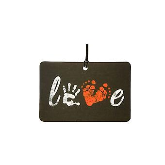 Love Palmprint / Footprint Car Air Freshener