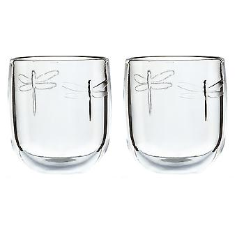 La Rochere Set of 2 Libellule Tumblers, 28cl
