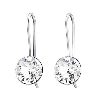 Rond - 925 Sterling Silver Crystal boucles d'oreilles - W27780X