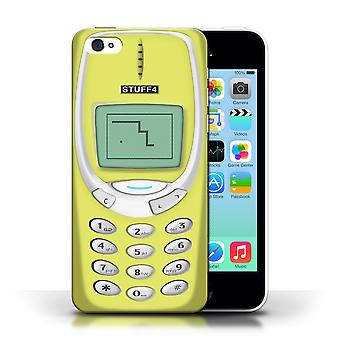 STUFF4 caso/cubierta para Nokia 3310/Retro de Apple iPhone 5C/amarillo teléfonos