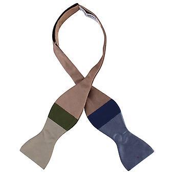 Gene Meyer Madison Self Tie Silk Bow Tie - Mint/Green/Blue