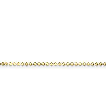 Edelstahl Ip Gold geblitzt poliert gelb IP vergoldet Fancy Hummer Verschluss 2,0 mm Kugel Kette Halskette Schmuck Geschenke