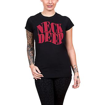 Neck Deep T Shirt Simple Warp band logo new Official Womens Skinny Fit Black
