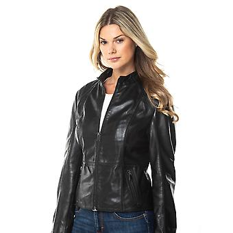 Palermo II Cafe Racer Leather Jacket in Black