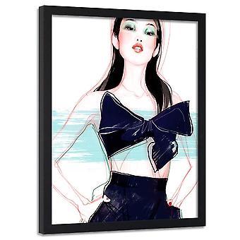 Poster no frame, mulher com uma curva