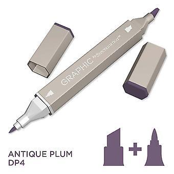 Grafisch door spectrum Noir enkele pennen-antieke pruim