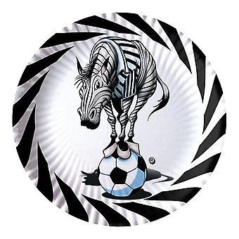 Zebra Soccer 24cm Paper Party Plates