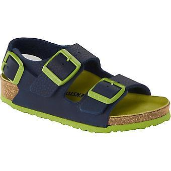 Birkenstock Kinder Milano BF Sandale 1012593 Deset Boden Blau REGULAR