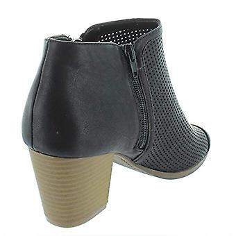 Stil & Co. Womens Kirii Faux läder Block klack tossor