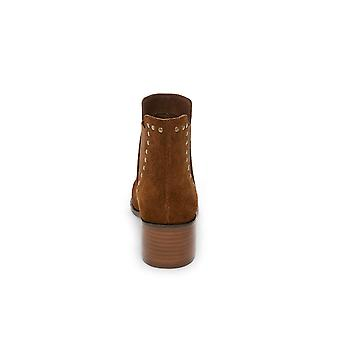 Steve Madden Womens Cade Leather Round Toe Ankle Cowboy Boots