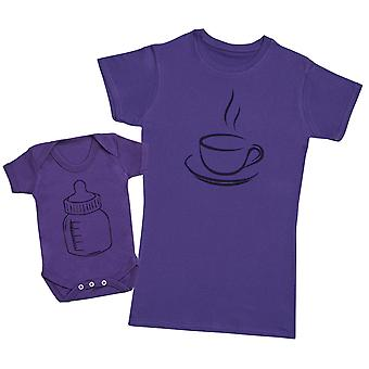 Coffee And Milk - Baby Bodysuit & Mother's T-Shirt