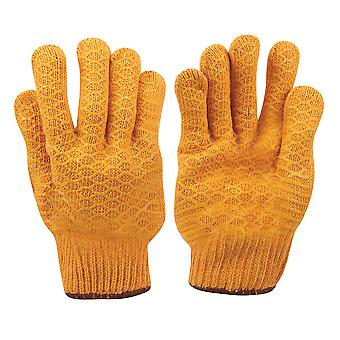 Gele grijper handschoenen-L 10