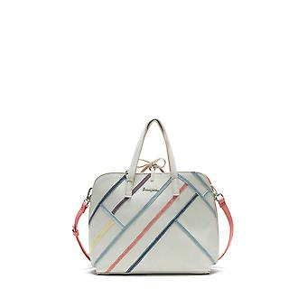 Desigual Women's White Arianne Hamar Reversible Large Bag & Matching Messenger