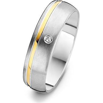 Danish Design - Ring - Femmes - IJ138R2D-60 - Lynge - Titanium - Diamants - 60