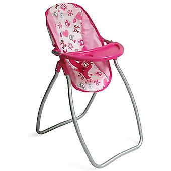 Moni doll high chair and doll rocker bear 9397C, seat belt cup recess