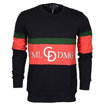 Criminal Damage Dolfo Cotton Logo Black/white Sweat