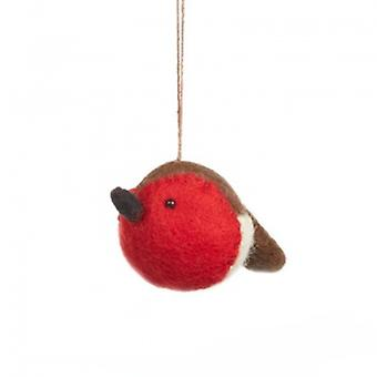 Felt Sweetheart Robin Hanging Decoration| Gifts From Handpicked