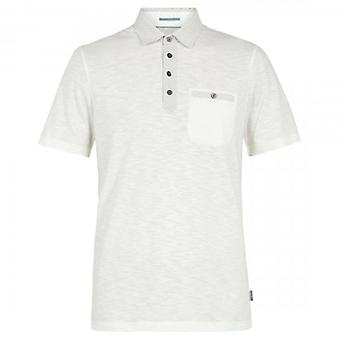 Ted Baker Saharah SS Geo Collar Polo Shirt White