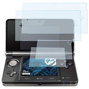 Bruni 2x Screen Protector kompatibel med Nintendo 3DS 2011 Beskyttelsesfilm