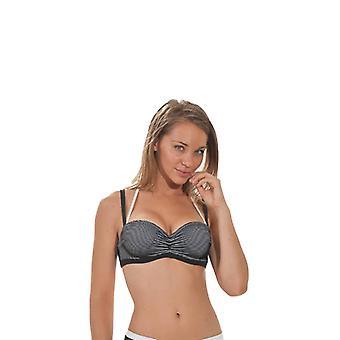 Nicole Olivier Badehose Bikini top BERENICE schwarz 5238