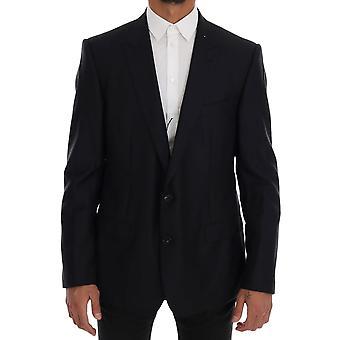 Dolce & Gabbana Blue Sartoria Wool Silk Blazer Jacket