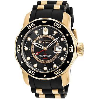 Invicta Men's 6991 Pro Diver Quartz GMT Black Dial with Carry Case