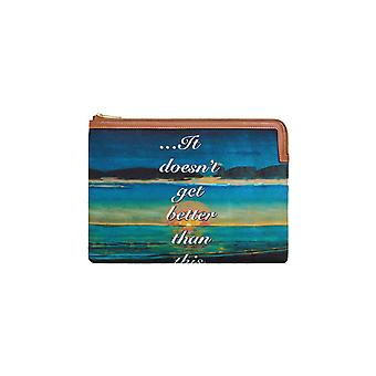 Céline 10d672cfq14ml Women's Multicolor Fabric Clutch