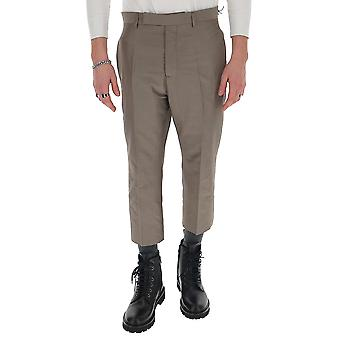 Rick Owens Ru20s7372sc34 Men's Grey Cotton Pants