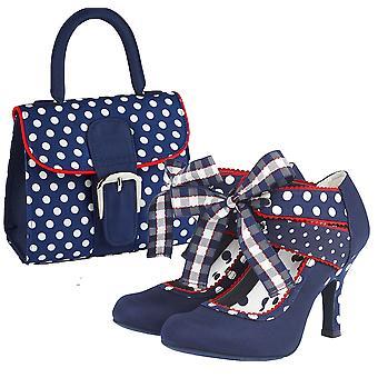 Ruby Shoo Mujeres's Aisha Cinta Mary Jane Botines & Matching Riva Bag