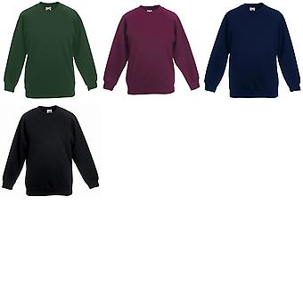 Fruit de la Loom Childrens Unisex manches Raglan Sweatshirt (Pack de 2)