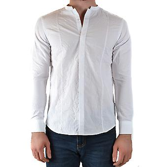 Messagerie Ezbc431009 Men's White Cotton Shirt