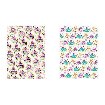 Simon Elvin Childrens Girls 24 Sheets Gift Wraps