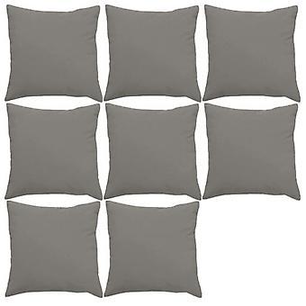 "Gardenista� | Premium Water Resistant Outdoor Foam Crumb Filled 18"" Garden Furniture Scatter Cushion - 8 Pack (Grey)"
